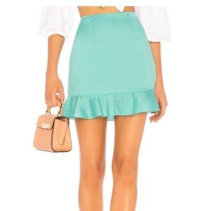 Lovers + Friends Braxton Skirt in Turquoise